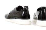Мъжки спортни черни обувки от естествена кожа 56.2704
