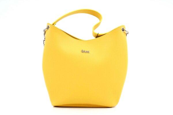 Дамска жълта чанта от еко кожа 17.2435