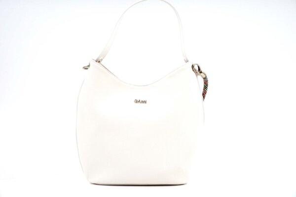 Дамска бяла чанта от еко кожа 17.2435