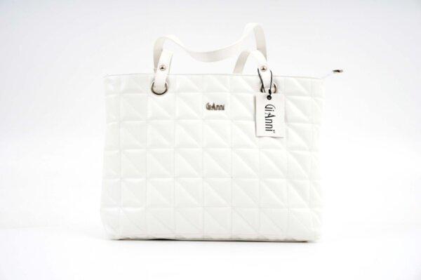 Дамска бяла чанта от еко кожа 17.1353