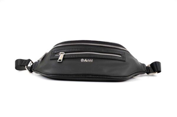 Дамска черна чанта от еко кожа и сатенен плат 17.2421