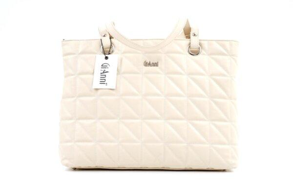 Дамска бежова чанта от еко кожа 17.1353
