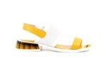 Дамски жълти сандали от естествена кожа 04.2034