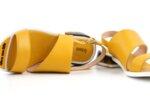 Ежедневни жълти дамски санадали от естествена кожа 04.2038
