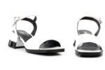 Ежедневни дамски сандали от бял лак 04.6120