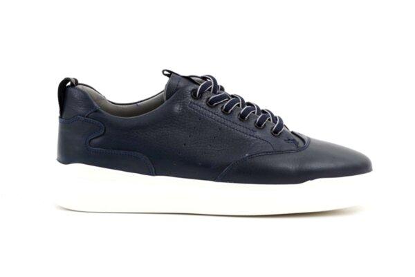 Спортни сини мъжки обувки от естествена кожа 57.24803