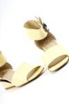 Ежедневни дамски жълти сандали от жълт лак 01.340
