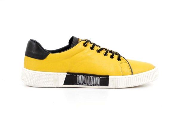 Мъжки спортни жълти обувки от естествена кожа 57.72802
