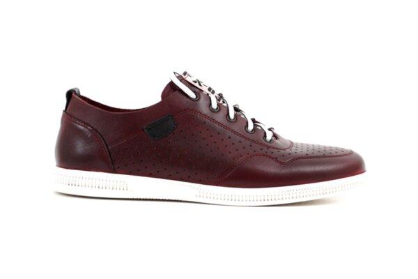 Мъжки спортни обувки от естествена кожа в цвят бордо 57.925