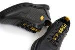 Мъжки спортни черни обувки от естествена кожа 57.925