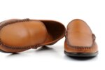 Мъжки камелени мокасини от естествена кожа 57.20551