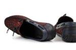 Мъжки мокасини от естествен набук в цвят бордо 57.048