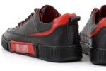 Мъжки спортни черни обувки от естествена кожа 57.72805