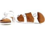 Ежедневни бели дамски сандали от естествена кожа 06.37921