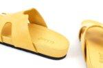 Дамски жълти чехли от естествена кожа 06.33521