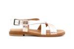 Ежедневни бели дамски сандали от естествена кожа 06.32521