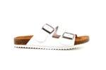 Дамски бели чехли от естествена кожа 06.38121