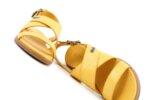 Дамски жълти сандали от естествена кожа 06.37421