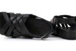 Ежедневни черни дамски сандали от естествена кожа 06.34621