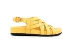 Ежедневни жълти дамски сандали от естествена кожа 06.34621