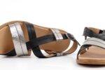 Ежедневни черни дамски сандали от естествена кожа 06.32521