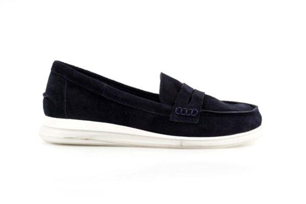 Ежедневни сини дамски обувки от естествен велур 56.2706