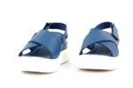Ежедневни сини дамски сандали от естествена кожа на висок ток 56.2652