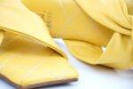 Дамски жълти чехли от естествена кожа 56.2801