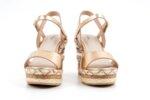 Ежедневни розови дамски сандали от еко кожа на висок ток 47.21861
