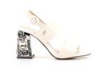 Елегантни бели дамски сандали от еко кожа на висок ток 47.22435