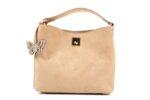 Дамска бежова чанта от текстил 47.50025
