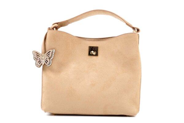 Дамска бежова чанта от еко кожа 47.50025