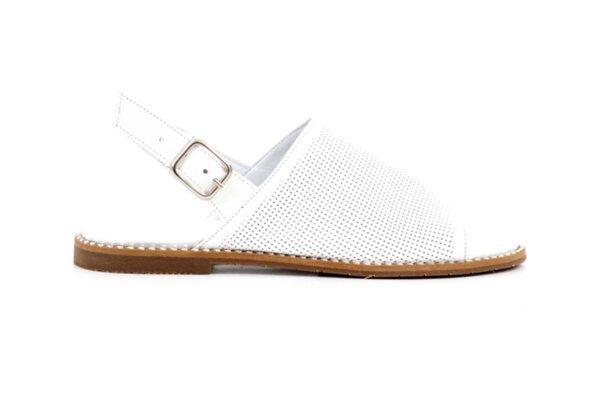 Ежедневни бели дамски сандали от естествена кожа 01.07