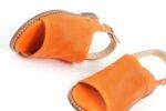 Ежедневни оранжеви дамски сандали от естествена кожа 01.07
