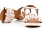 Ежедневни розови дамски сандали от естествена кожа 04.2125