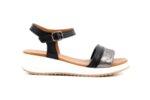 Ежедневни черни дамски сандали от естествена кожа 04.060