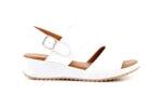 Ежедневни бели дамски сандали от естествена кожа 04.64