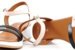 Ежедневни розови дамски сандали от естествена кожа 04.4806