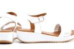 Ежедневни бели дамски сандали от естествена кожа 04.060