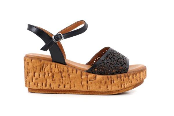 Ежедневни черни дамски сандали от естествена кожа 04.2633