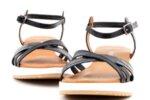 Ежедневни черни дамски сандали от естествена кожа 04.062