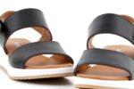 Ежедневни черни дамски сандали от естествена кожа 04.64