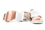 Ежедневни розови дамски сандали от естествена кожа 04.2034