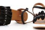 Ежедневни черни дамски сандали от естествена кожа 04.2125