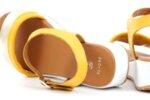 Ежедневни жълти дамски сандали от естествена кожа 04.060