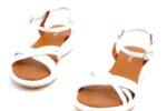Ежедневни бели дамски сандали от естествена кожа 04.062