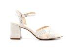 Елегантни бежови дамски сандали от еко кожа на висок ток 47.22514