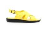Ежедневни жълти дамски сандали от естествена кожа 56.3003