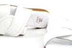 Дамски бели чехли от от естествен лак 56.2802