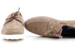 Спортни бежови мъжки обувки от естествен набук 57.920